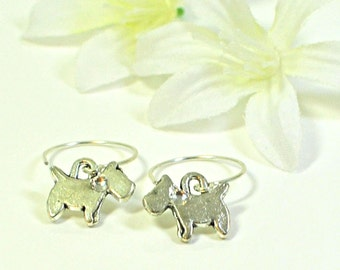 Scottie Dog Earrings Bonnie and Doon - Scottie Jewelry - Scottish Terrier - Dog Lovers Gift - Terrier Earrings -Animal Jewelry -Gift for Her