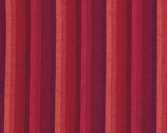 Kaffe Fassett Multi Stripe Pimento Woven Cotton Fabric By The Yard
