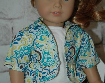 American, made, girl doll, jacket, peplum, style, 18 inch, doll clothes