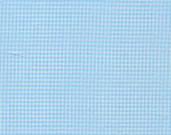 Cotton coupon small 180x93cm turquoise gingham