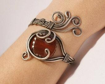 agate jewelry agate bracelet brown agate bracelet in handmade wire wrapped jewelry handmade wire wrapped cuff bracelet wire jewelry