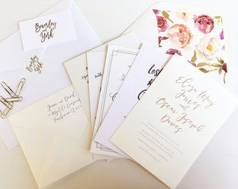 Wedding Invitation Paper Sample Kit