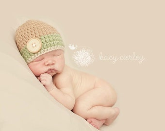 baby hat, baby boy hat,    newborn boy, hat with button, newborn boys hat, boys baby shower gift,baby gift,baby hat, crochet baby hat