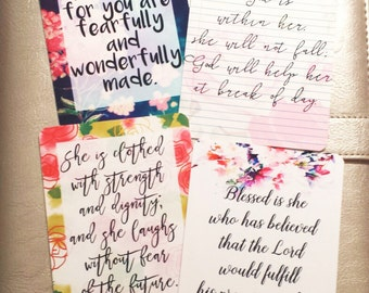 scripture journal cards - bible verse note cards - scripture project life cards - bible journaling - cards - notecards - greeting cards