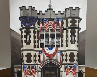 "Original Painting ""Engine House No. 38"" Poppleton Fire Station, Baltimore Maryland"
