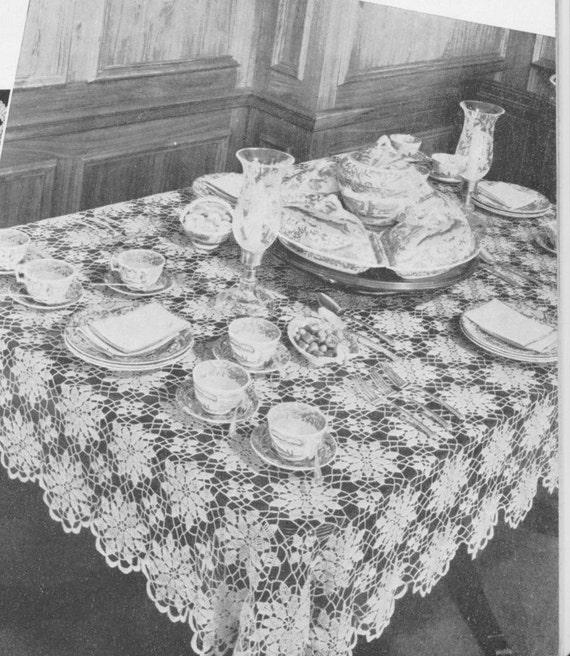 308 PDF Queen Anne's Lace Crochet Pattern. Tablecloth