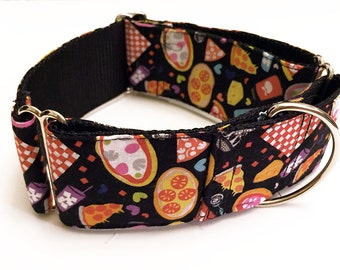 Pizza Restaurant! Whole Pies or By The Slice! - Handmade MARTINGALE or BUCKLE dog collar