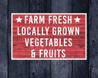 Farm Fresh, Farm Fresh Sign, Market Fresh, Produce, Farmers Market Sign, Printable, Vector, SVG, Print, Vinyl, Sticker, Cuttable, Cut File