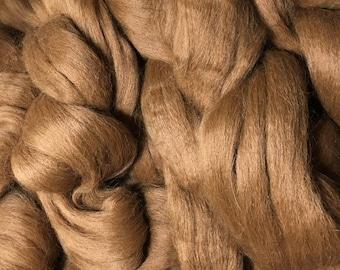 Alpaca Fiber Roving Top Reddish Brown Superfine, 2.5 Pounds, Spinning, Hearts Desire Fiber