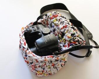 Funda de trapillo para cámara de fotos mediana