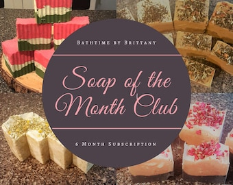 Soap of the Month Club | Soap Subscription Box | Vegan | Cruelty Free | Seasonal | Bridesmaid Gift | Shower Gift | Hostess Gift | Bride Gift
