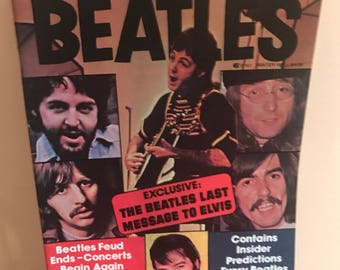 Vintage 1977 Welcome Back Beatles Magazine Book Mint Condition