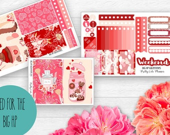 BIG Happy Planner Planner Stickers - Weekly Planner Sticker Set - Happy Planner  - Functional stickers - Valentines Day - BHP Valentines