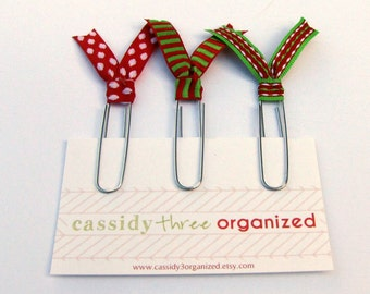 Christmas Planner Clips, Organizer Accessory, Planner Clip, Planner Accessory