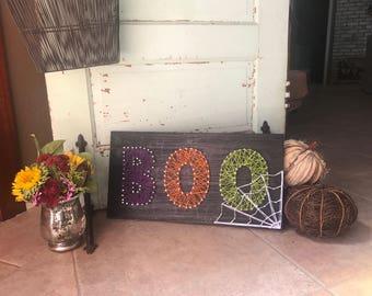 Boo Halloween Wood Decor
