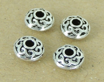 4 PCS 925 Sterling Silver Spacers Vintage WSP395X4 Wholesale: See Discount Coupons in Item Details