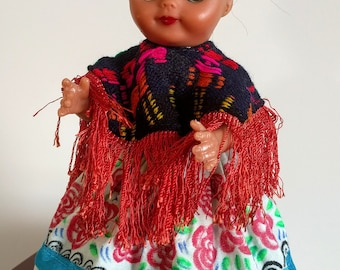 Vintage Frida Kahlo doll - hand painted