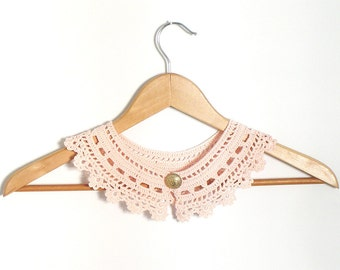 Peter Pan Lace Collar  Pink  Irish Style Detachable