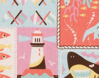 Fish Quilt fabric by Kokka. (canvas). SK170