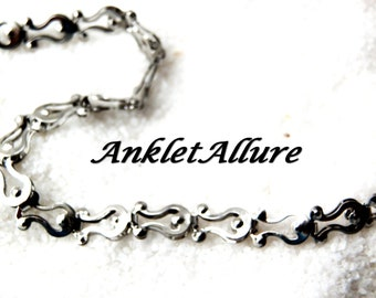 Silver Ankle Bracelet Stainless Steel Anklet Chain Ankle Bracelet BEACH PROOF Anklets for Women