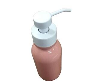 Salmon Foaming Soap Dispenser - Inspired by the Vintage Milk Bottle - Black, 16oz Glass Bottle with Soap Pump For Foaming Soap