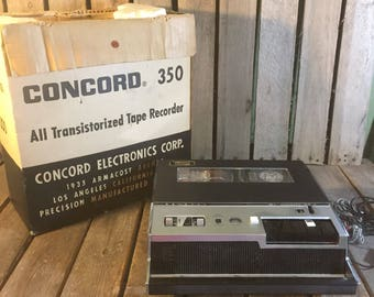 Vintage Transistorized Tape Recorder