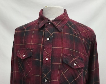 Western Popper Flannel Shirt