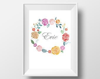 Floral Name Prints