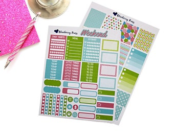 Spring Weekly Kit Planner Stickers! Perfect for your Erin Condren life Planner