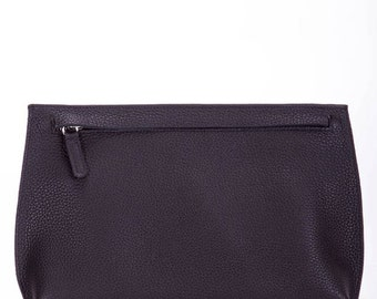 Black leather clutch, leather clutch, evening leather purse, black leather purse