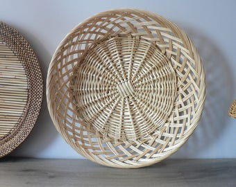 15 1/2 Inch Large Boho Woven Wall Basket Wall Decor
