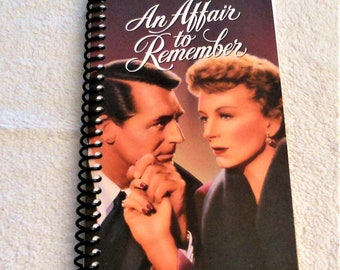 An Affair to Remember, VHS Film Box, Handmade, VHS Upcycled Notebook, Journal