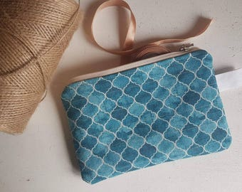 Notions pouch/knitting project bag/crochet bag/yarn bag/ gift for knitter/ gift for mother