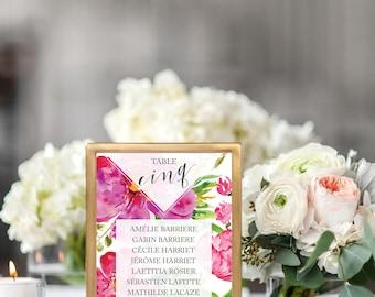 Floral Wedding seating plan - Flowers Wedding seating chart - Floral Wedding Table - Floral Wedding Invitation - Flowers Bohemian Greenery