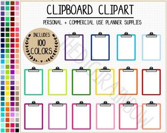 SALE 100 CLIPBOARD clipart rainbow clipboard planner stickers clipboard printable planner stickers school clipart teacher planner stickers
