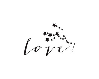 Custom rubber stamp L01 stamp Love starred for create & decorate your own stationery to your desires, not limit, just in. love stamp