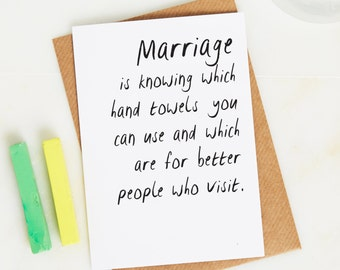 Marriage is card - Funny birthday card - Funny  Valentine Card - Funny Greeting Card - Funny Love Card - Funny Marriage Card - Comical card