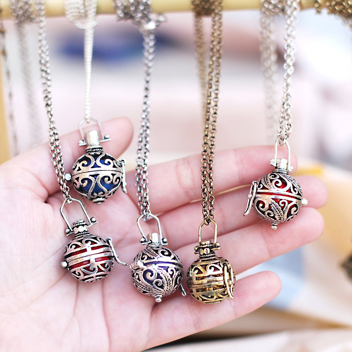 Maternity angel caller pendant pregnancy necklace harmony ball zoom aloadofball Image collections