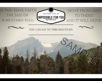 If You Have Faith The Size Of A Mustard Seed -Matthew 17:20 Inspirational Mountain View Frame