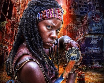 Michonne - Inspired by The Walking Dead zombie zombies zombie art zombie life