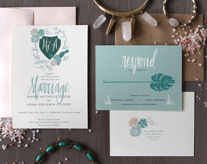 PRINTABLE Wedding Invitation Suite | Desert Bloom