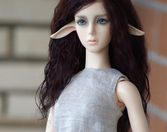 Bjd Black Orchid mohair wig SD 8/9 inch