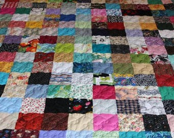LAP Quilt - Custom Made Quilt - Scrappy Patchwork Quilt - Old Fashion Quilt/ Vintage Inspired Quilts/ Handmade Quilt / Nostalgia