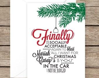 Mariah Carey Christmas/Holiday Card