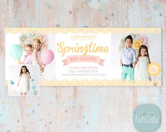 Spring Photography Facebook Timeline - Photoshop template - HE005 - INSTANT DOWNLOAD