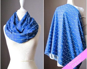 Nursing  scarf, breastfeeding wrap, breastfeeding blanket, scarf nursing cover, nursing infinity scarf, wide  scarf, Navy scarf