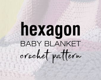 HEXAGON baby blanket - crochet pattern