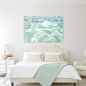 Water Canvas Art   Turquoise Wall Decor   Water Photography   Coastal  Canvas Wall Art