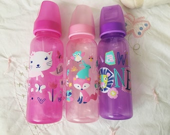 Sweet girly modified adult nipple baby bottles
