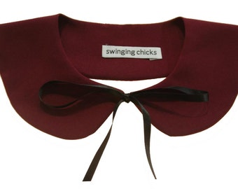 Detachable Peter Pan Collar Necklace Bib retro inspired bow colors